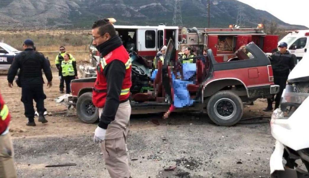 Choque en Coahuila deja tres muertos y tres heridos
