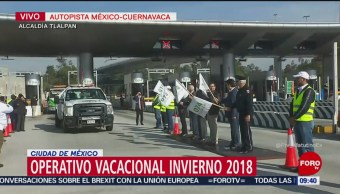 """Activan operativo vacacional """"Invierno 2018"""" en carreteras de México"""