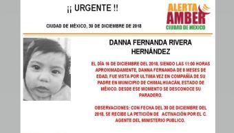 Alerta Amber para localizar a Danna Fernanda Rivera