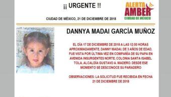 Alerta Amber para localizar a Dannya Madai