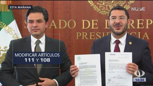 Andrés Manuel López Obrador envió su primera iniciativa de reforma constitucional al Senado; propone eliminar el fuero al presidente en funciones