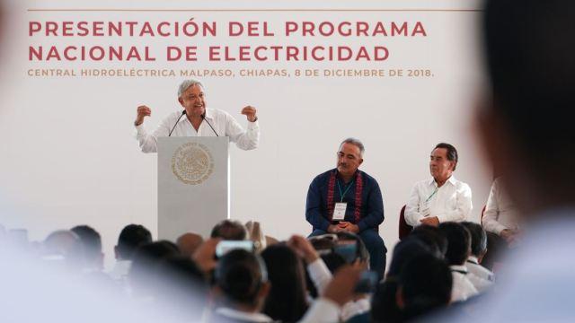 AMLO presenta Programa Nacional de Electricidad en Chiapas