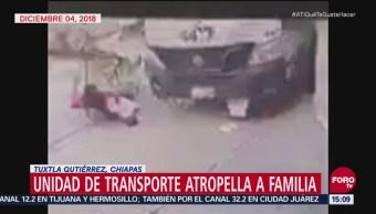 Atropellan a familia en Tuxtla Gutiérrez, Chiapas