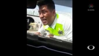 Auto Embiste Policía Atizapán Estado De México