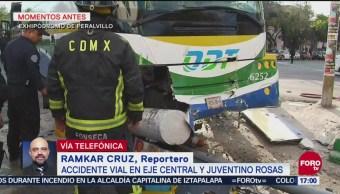 Autobús Se Impacta Heridos Eje Central Cdmx