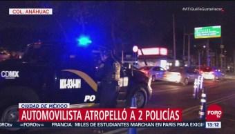 Automovilista atropella a dos policías en punto de alcoholímetro CDMX