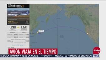 Avión 'Viaja En El Tiempo'; Despegó En 2019 Y Aterrizará En 2018, Avión Viaja En El Tiempo, Despegó En 2019, Aterrizará En 2018, All Nippon Airways, Tokio En 2019, Aterrizará En 2018 En Los Angeles, Estados Unidos