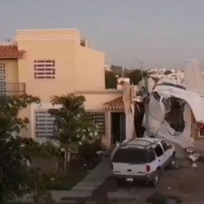 Desplome de avioneta deja cuatro muertos y dos lesionados, en Culiacán