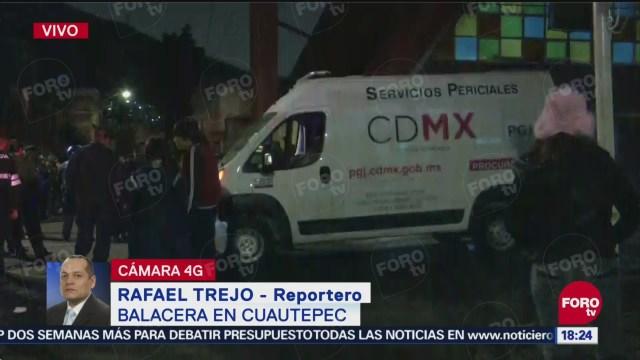 Balacera en Cuautepec, CDMX, deja tres muertos