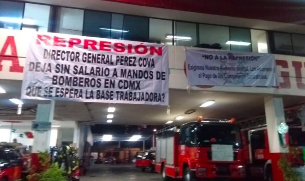 Mandos de bomberos exigen a Sheinbaum reactive su salario