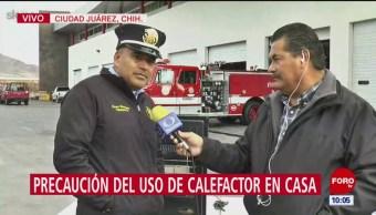 Bomberos de Juárez explican cómo usar correctamente calentones