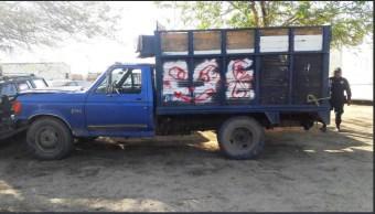 Aseguran camioneta con hidrocarburo robado en Oaxaca