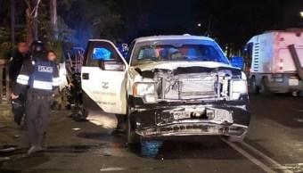 Camioneta de valores atropella a dos policías en la CDMX