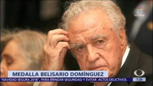 Carlos Payán recibirá la medalla Belisario Domínguez