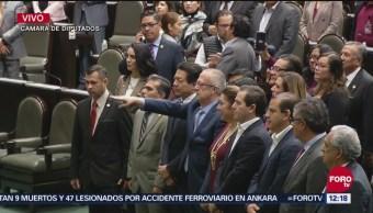 Carlos Urzúa rinde protesta como secretario de Hacienda