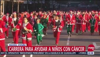 Carrera para ayudar a niños con cáncer en Madrid, España