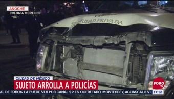 CDMX: Camioneta De Valores Atropella A Dos Policías, CDMX, Camioneta De Valores, Atropella A Dos Policías, Colonia Morelos, Ciudad De México