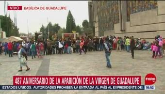 Celebración a la Virgen de Guadalupe se extiende por la tarde