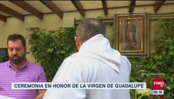 Ceremonia en honor a la Virgen de Guadalupe