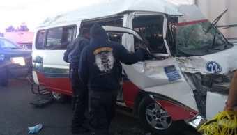 Choque en la carretera Texcoco Lechería deja 8 lesionados