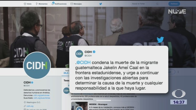 CIDH condena muerte de niña guatemalteca en EU