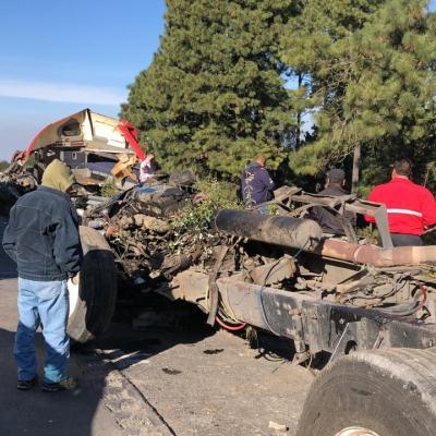 Cierran autopista México-Puebla por accidentes en el kilómetro 50 hacia la CDMX