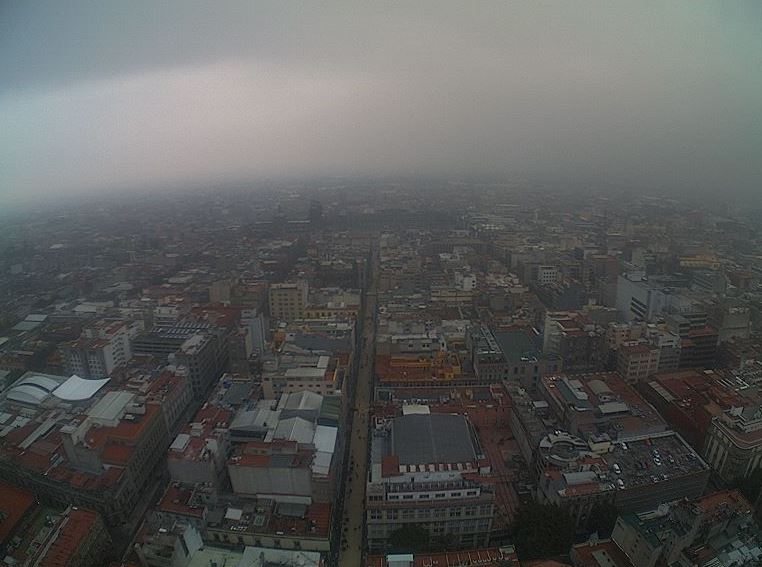 Panorámica de la Ciudad de México; registra nueve grados centígrados