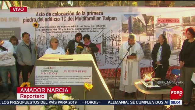 Colocan primera piedra en multifamiliar Tlalpan tras sismo del 19S