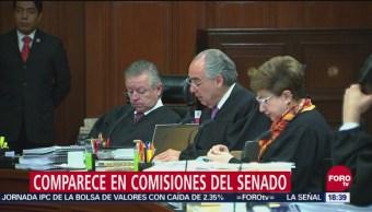 Comparece en comisiones del Senado Juan Luis González Alcántara