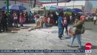 Conato Incendio Puesto Cohetes Chiapas Pirotecnia