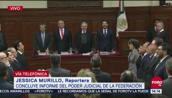 Concluye informe del Poder Judicial de la Federación