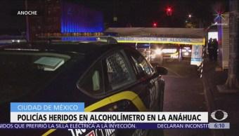 Conductor atropella a dos policías en alcoholímetro de la colonia Anáhuac