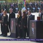 Despiden a las cinco víctimas del accidente aéreo en Puebla