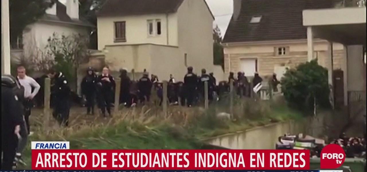 Detención de estudiantes en Francia indigna en redes sociales