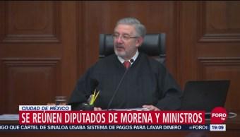Diputados De Morena Reúnen Ministros Corte SCJN