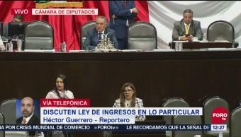Diputados discuten reservas a artículos de Ley de Ingresos