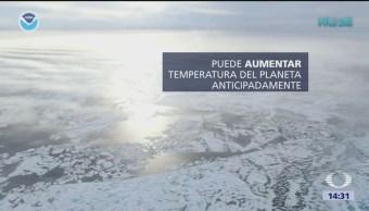 Disminuye grosor del hielo del Ártico