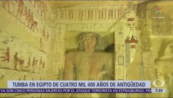 Egipto descubre tumba intacta de 4 mil 400 años de antigüedad