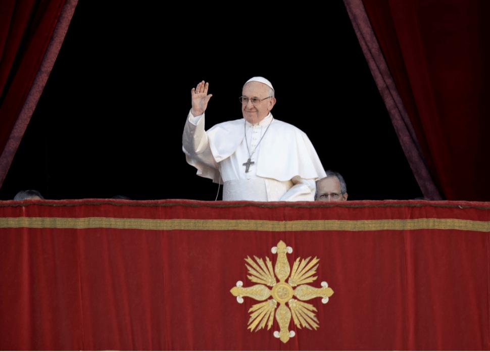 El papa Francisco durante mensaje de Navidad. (AP)