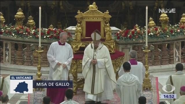 El papa preside la Misa de Gallo