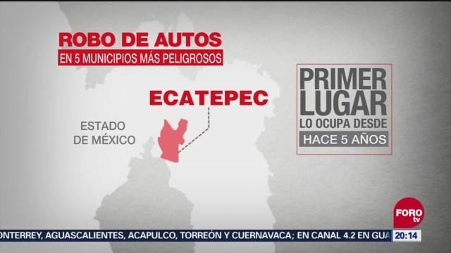 Estado De México Primer Lugar Robo Vehículos