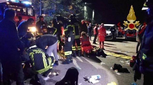 policia de italia encuentra gas pimienta en lugar de estampida