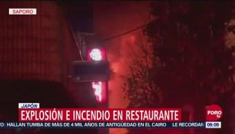 Explosión e incendio de restaurante en Sapporo, Japón; 41 heridos