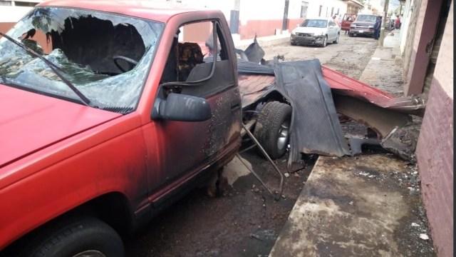 Explosión camioneta con pirotecnia deja un muerto Michoacán
