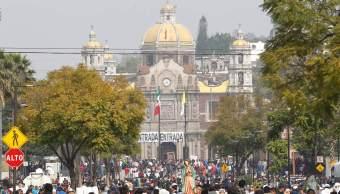 Sin incidentes mayores por arribo de peregrinos a la Basílica