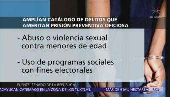 Feminicidio y violencia sexual ya implican prisión preventiva oficiosa