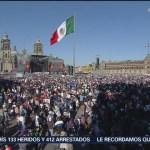 Festejos en Zócalo capitalino por toma de protesta de AMLO