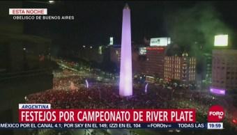 Festejos por campeonato de River Plate en Argentina