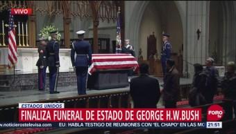 Finaliza Funeral De Estado de George H.W. Bush