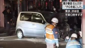 Automóvil atropella a peatones en Tokio; suman 8 lesionados
